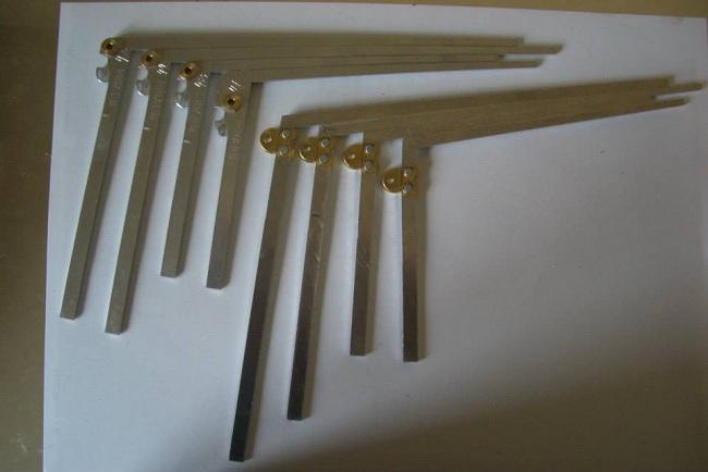Дюралевые рычаги клавиатуры с латунными втулками и накладками(два варианта)