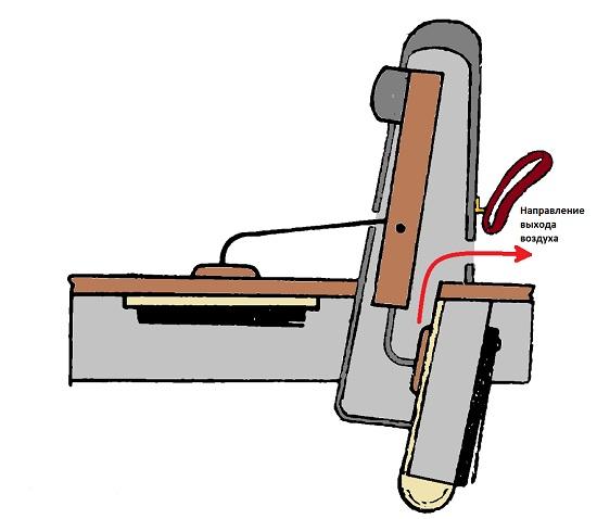 Гармонь-ливенка в разрезе(виден резонаторный канал)