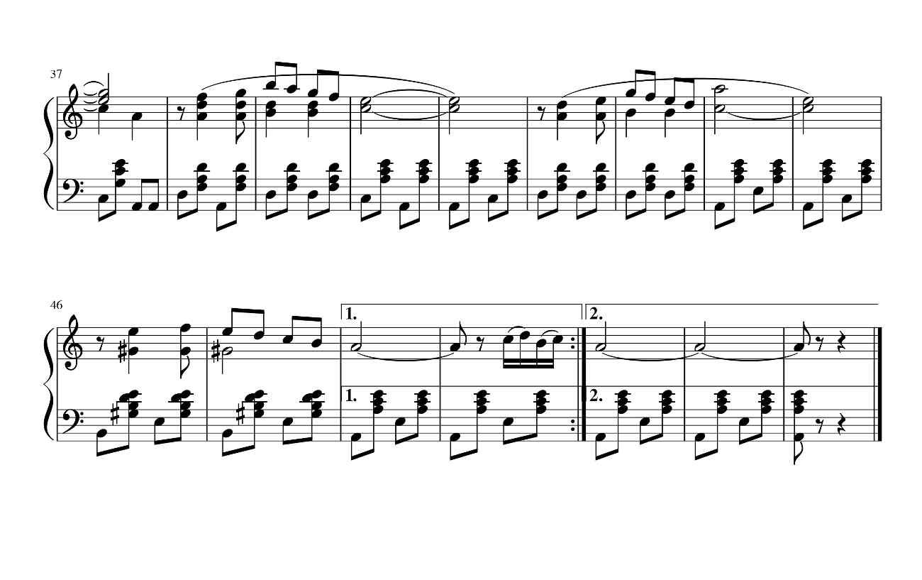 Черноглазая казачка-2(ноты для гармони)